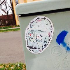 Sticker art (mcknightpercy) Tags: street urban art graffiti sticker artist tag marker graff adhesive slaps 2014 artform slaptag stillridin