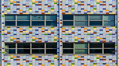 Mozaek gevel (Fotografie, Gouda) Tags: windows holland facade nikon nederland ramen nl architectuur gouda lijnen abstractarchitecture gevel frontwall mozak geometriegeometry nikond5100 repeatlines lasschuyt rinuslasschuyt