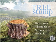 Tree Stump (Red Peppers Designs) Tags: life tree mesh sl stump second