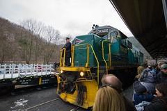 Riding the Rails (jcAOY) Tags: leica engine rail jimthorpe conductor m9 santatrain wate