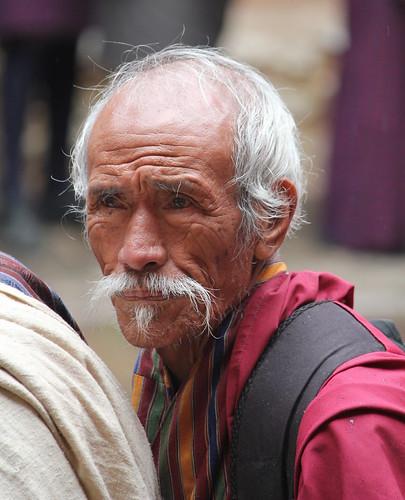 Jakar tshechu, old man