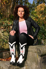 Doreen 41 (The Booted Cat) Tags: sexy girl leather model boots tight cowboyboots leggins