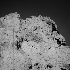 (G. For._active again) Tags: bw rocks climbing climber