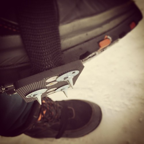 At last, crampons for dog walking #yxy #Yukon #northernproblems