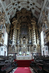 porto cathedral altar (kexi) Tags: old portugal church vertical canon se ancient catholic cathedral symmetry september altar porto ornate oporto 2014
