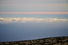 Pink line (Ania Mendrek) Tags: travel light sunset sky nature night clouds landscape volcano islands evening spain travels holidays colours hiking observatory telescope tenerife summit canary domes teide