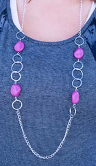 Glimpse of Malibu Purple Necklace K2A P2420A-5