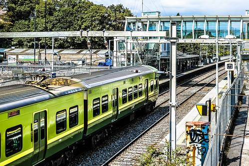 DART TRAIN AT BLACKROCK TRAIN STATION REF-101781