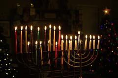 8th Night Burning Bright (Sarah B in SD) Tags: family candles chanukah hanukah cook eat oil jewish tradition celebrate menorah latkes chrismakah 8thnight latkejammyjam