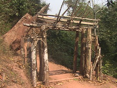 Laotian Hill Tribe Spirit Gate Luang Nam Tha Province