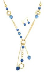 Glimpse of Malibu Blue Necklace P2710A-5