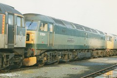 """Withdrawn Class 47/0, 47004 / D1524 """"Old Oak Common Traction & Rolling Stock Depot"""" (37190 """"Dalzell"""") Tags: br spoon brush scrap duff wigan withdrawn sulzer stored class47 type4 d1524 47004 crdc springsbranch class470 twotonegreen oldoakcommontractionrollingstockdepot celebrityrepaint componentrecoverydistributioncentre"""