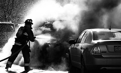 When cars go bad (UnShuttered Soul~ Good to be busy!) Tags: blackandwhite water colorado flames dramatic firemen toned carfire firehoses clementpark littletoncolorado carfires southwestdenver jeffersoncountyfiredepartment burningcars intenseflames fordonfire subaruonfire southwestdenverfire firecrewinaction hondaonfire
