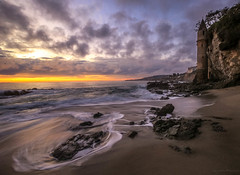 Victoria Beach (Stacey Berardino) Tags: ocean california sunset beach water landscape victoria wipeout laguna splash
