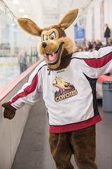 Wyo the Coyote (mark6mauno) Tags: coyote las vegas ice hockey nikon center mascot western casper states nikkor league d4 coyotes wyo 70200mmf28gvr wshl nikond4 lasvegasicecenter lvic westernstateshockeyleague 201415 caspercoyotes westernstatesshootout
