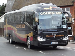 Rail replacement: Golden Boy Scania Irizar i6 XO64BOY 'Master Christian' Lower Street Stansted Mountfitchet 01/02/15 (TheStanstedTrainspotter) Tags: bus public buses transport replacement engineering rail works publictransport stansted scania railreplacement goldenboy stanstedairport broxbourne bishopsstortford stanstedmountfitchet irizar harlowtown westangliamainline irizari6 railrep abelliogreateranglia masterchristian xo64boy