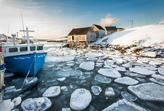 Icy Harbour (bluegreenorange) Tags: winter snow ice water novascotia ns peggyscove