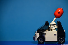Driving with a balloon (LynG67) Tags: car lego balloon stormy stormtrooper minifig