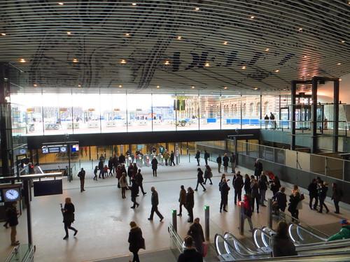 20150228 Delft, eerste dag nieuwe station