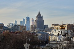 Panorama Of Moscow (vadimmokin) Tags: street city sky cold castle church clouds skyscraper n