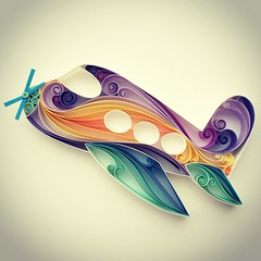 Quilled Airplane (all things paper) Tags: paperart airplane quilling quilled quilledairplane
