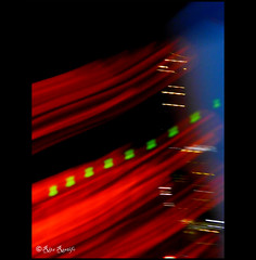 Roma. Visioni urbane astratte (R come Rit@) Tags: street city red italy abstract streets rome roma verde green colors night lights italia view nocturnal views luci astratto rosso colori notte icm città visioni ritarestifo