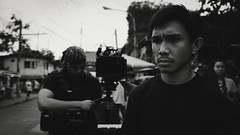 Nico. (mackiegalvez) Tags: bw white black film de king fuji indie filipino behind antonio nico scenes jm pinoy guzman palisoc x100s