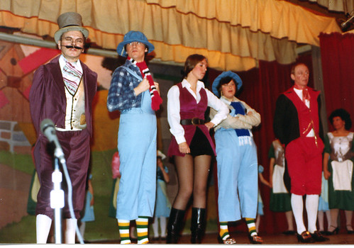 1984 Puss in Boots 06 (from left Ted Hampton,Roy Ritchie,June (Francis) Salt, Joan Ritchie, Ken Fielding)