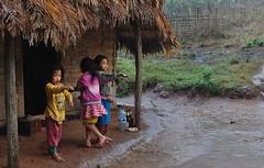 Rain - Averse (Stphanie Amaudruz) Tags: rain kids children pluie enfants laos lantenpeople