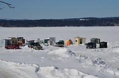 Ice Fishing Huts (Neal D) Tags: newbrunswick rothesay renforth