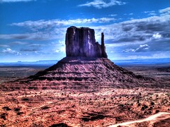 Monument Valley HDR (Rik Tiggelhoven (catching up)) Tags: park travel arizona sky usa color colour monument nature colors clouds america landscape photography utah colours fuji united paisaje tribal paisagem valley finepix states navajo left amerika paysage landschaft hdr rik mitten landschap clouded landskap paisaxe paisaia 4900zoom tiggelhoven