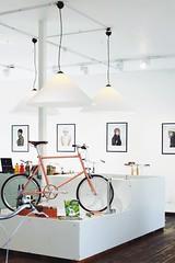 image (Kathi Huidobro) Tags: london interiordesign bikeshop architecture interior retailinterior lighting lightingdesign architecturallighting londonshops minimalist contemporary contemporaryinterior tokyobike eastlondon shoreditch spotlights pendants pendantlights
