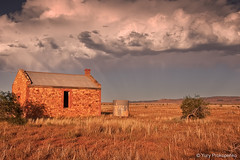 Rain Is Finally Coming (renatonovi1) Tags: abandoned cottage house farmhouse ruin hawker southaustralia sa australia rain sun cloud stormlandscape sunset