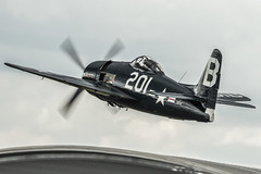 Bearcat (Nick Collins Photography, Thanks for 2 million vie) Tags: aircraft airshow aviation flying military farnborough canon 7dmk2 500mm bearcat usn navy grumman f8f