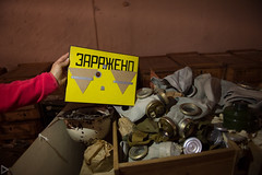 Kiev Underground-5316 (system slave) Tags: kiev ukraine bunker civildefence contaminated fallout gasmasks shelter sign soviet underground