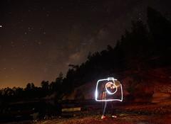 Camera (JLandau Photography) Tags: tucson arizona casagrande domes smoke mask milkyway longexpo steelwool steel wool night photography orb long exposure portrait stars