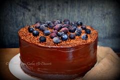 Chocolate Cake (Yummilicious Cakes & Desserts) Tags: chocolate cake yummy delicious blueberries food dessert yummiliciouscakesanddesserts