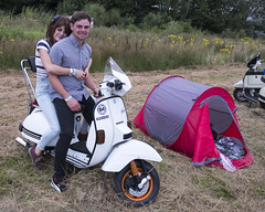 When You're Young... (the underlord) Tags: rixton scooterrally scootering scooterist vespapx camping campsite couple young