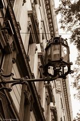 Foro Bonaparte, Milan (simy_sun) Tags: milan italy streetphotography architecture architectural sepia monochrome monochromatic lightroom adobe light streetlight lamppost