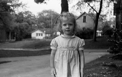 NegativeRoll0010005.jpg (The Digital Shoebox) Tags: madeinusa blackandwhite face amateurphotographer people ebay children foundfilm monochrome negative unidentified memories scan found girl outside family original 35mm kodak