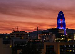 (KPBCN) Tags: barcelona noche arquitectura colores torreagbar poblenou largaexposicion