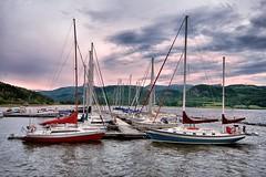 Le quai de l'Anse.., (Lucien-Guy) Tags: canada cove baie dock quai sailboats ansestjean qubec saguenay fjord river rivire voiliers bateaux boats nikond90