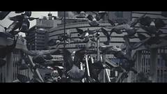 Cinematic Series #02 (Laser Kola) Tags: lasseerkola laserkola japan osaka 2014 hato pigeon pigeons cinematic cinematicseries wideangle anamorphic bigcity metropolis architecture animals borders lowsaturation lowcolor movie cinema fujifilmx100s fujifilm fujix100s 35mm stuffed flying toned bladerunner