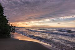 Morning Rays (Kevin Pihlaja) Tags: michigan upperpeninsula keweenaw lakesuperior sunrise waves clouds sky shore morning beach sand greatlakes leefilters ndgrad landscape explore coppercountry serene crepuscularrays