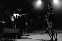 """Virtuoso and wizard"" (praetorian29620) Tags: fdrouet nb bw concert hophophopcrew film musicien muiscian f801s afd analogue analogique analogico blackandwhite noiretblanc blancoynegro biancoenero nikon nikkor 50mm18 trix kodak 1600 pouss pushed scan epson v370 lc29 breton grain"