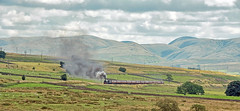 The View from Shap Wells (FlyingScotsman4472) Tags: lms 45690 leander jubilee cumbrian mountain express 6th august 2016 shap wells salterwath steam main line wcml tebay greenholme howgills cumbria westmorland