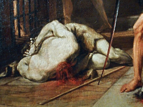 """The beheading of Sant John the Baptist"" (about 1680; detail) by Nicola Vaccaro (Naples 1640-Naples 1709) - Zevallos Museum in Naples"