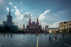 Moscow, Red Square (ArnoldR2D2) Tags: transsib transib moscow moskau roter platz red square lenin mausoleum gum basilius kathedrale kreml kremlin historisches museum sonyalpha6000 sony alpha 6000 transsiberian transsibirische reise samyang 12mm