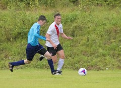 Alan Frizzell turns on the pace on the left touchline (Stevie Doogan) Tags: clydebank glasgow perthshire exsel group sectional league cup wednesday 10th august 2016 holm park