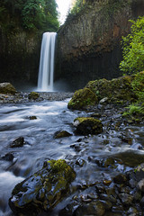 Abiqua Falls with Creek Foreground (Gwmullis) Tags: oregon gregmullisphotography abiqua falls waterfall